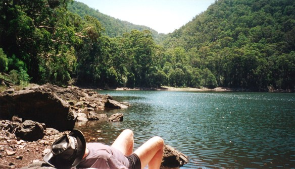 Relaxing by Lake Tali Karng