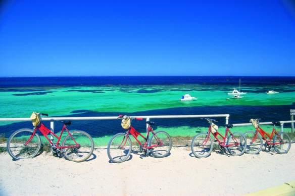 Bicycles at Parker Point. Photo: Courtesy Tourism WA