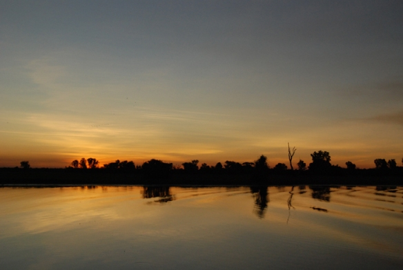 Sunset over Yellow Waters Billabong