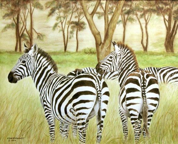 Zebra Pals by Elaine Booth-Kallweit