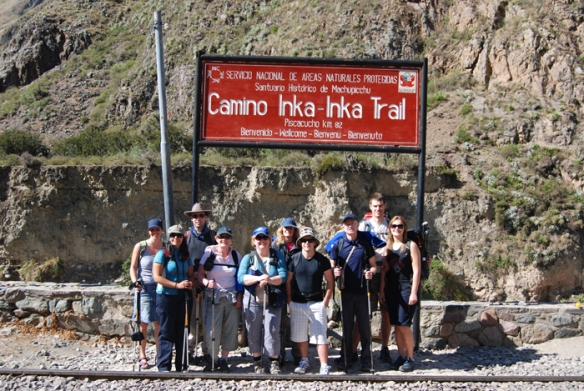 Our group at the beginning of the Inca Trail