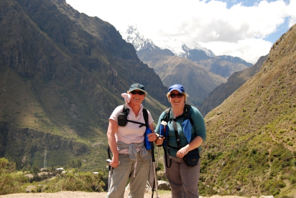 Sue and Karen on Day 1 of the Inca Trail trek