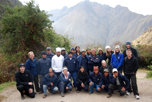 The group with our wonderful porters on the morning of Day 2