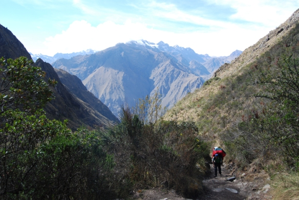 Spectacular mountain scenery on Day 2 of the Inca Trail