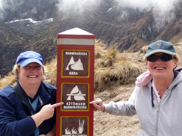 Big smiles as we made it to the top of Dead Woman's Pass