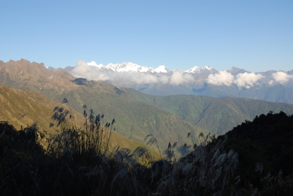 A beautiful brisk morning on Day 3 of the Inca Trail trek