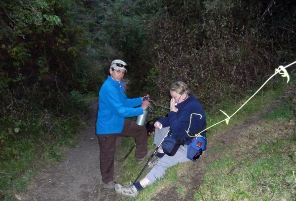 Not a happy hiker; needing oxygen