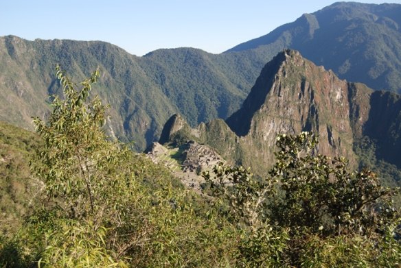 Machu Picchu is situated at 2400 metres above sea level.