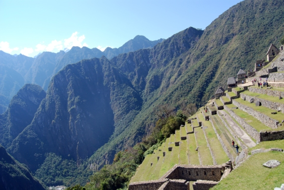 Machu Picchu's remarkable terraces are an example of the Inca's advances in architecture.