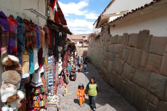 An original Inca wall