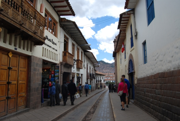 The streets of Cuzco
