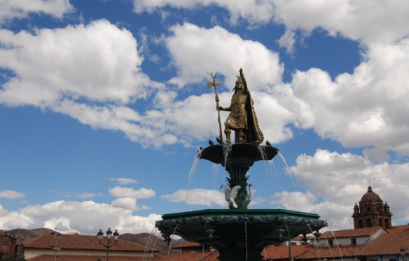 Plaza de Armas, also known as 'Warriors Square'