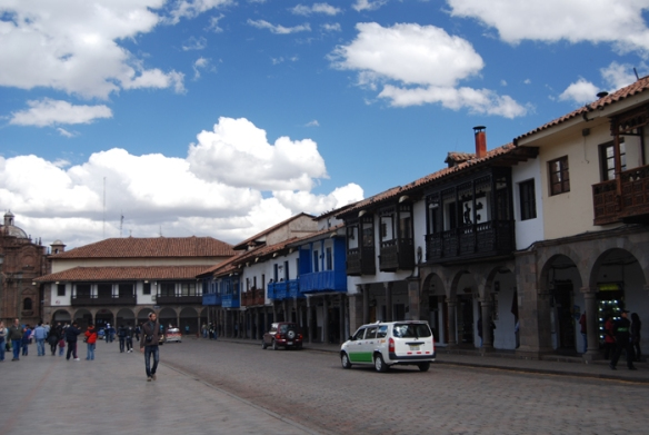 The camping stores are found in a narrow side-street off Plaza de Armas