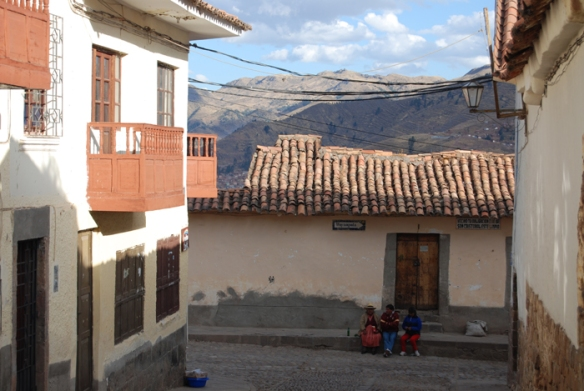 Locals on the streets of Cuzco