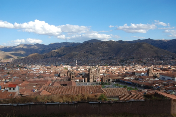 View of Cuzco from San Cristobal Church