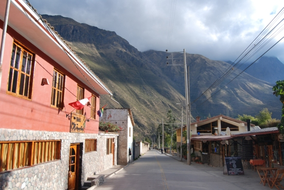The hotel where we stayed in Ollantaytambo
