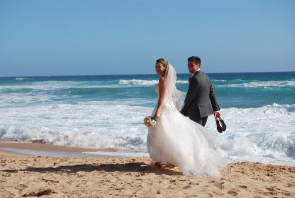 My niece Hayley and her husband Wes on their wedding day