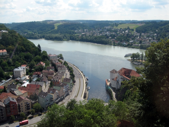 City of Three Rivers - the Danube, Inn and Ilz Rivers converge in Passau