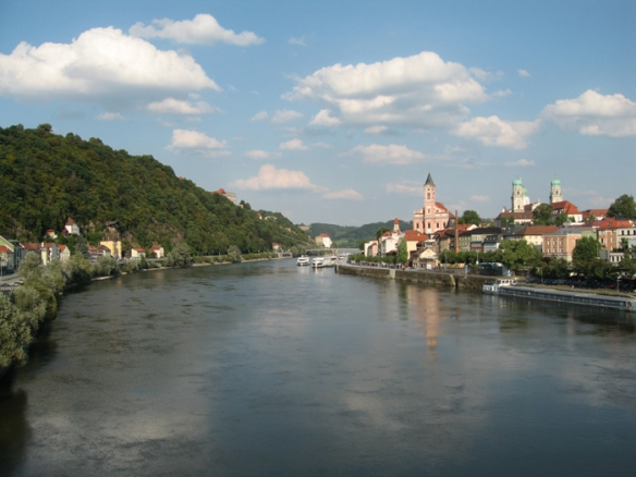 Danube River in Passau, Germany