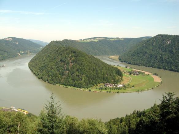 Schlögen Loop, where the Danube River takes a 180-degree loop
