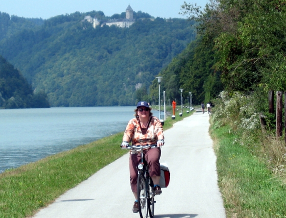 Enjoying the flat, easy terrain for cycling