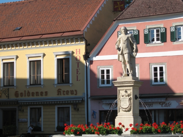 Town Square in the Baroque village of Grein