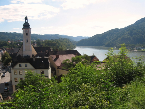 View of the Danube River from Greinburg castle