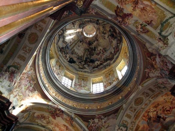 Ceiling fresco inside Melk Abbey