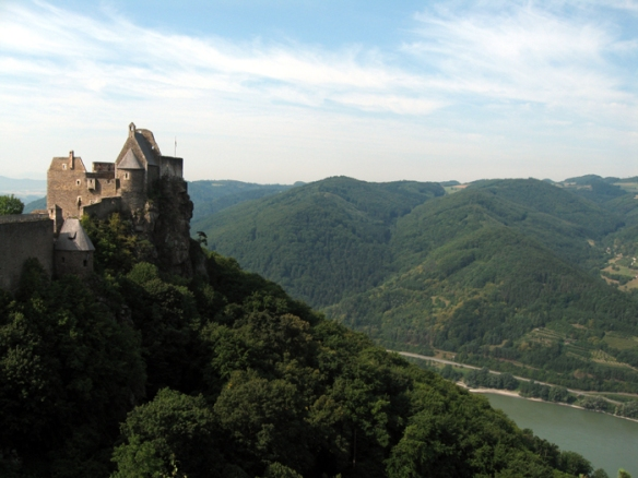 Aggstein Ruins overlooking the Danube River