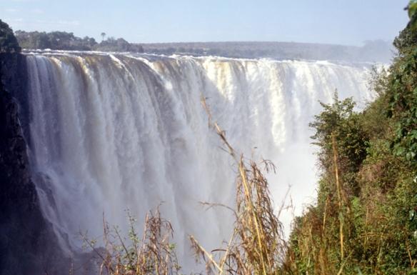 Victoria Falls just after the wet season