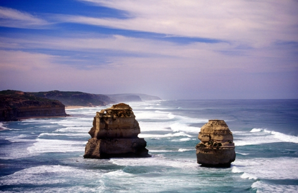 The Twelve Apostles and the beach at Gibson Steps
