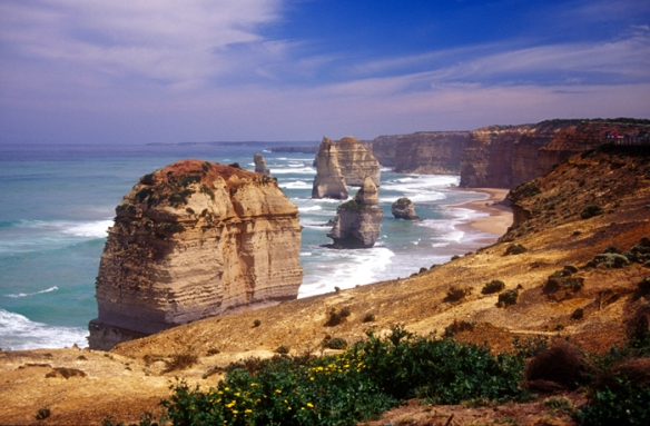 The famous Twelve Apostles on Australia's Great Ocean Road