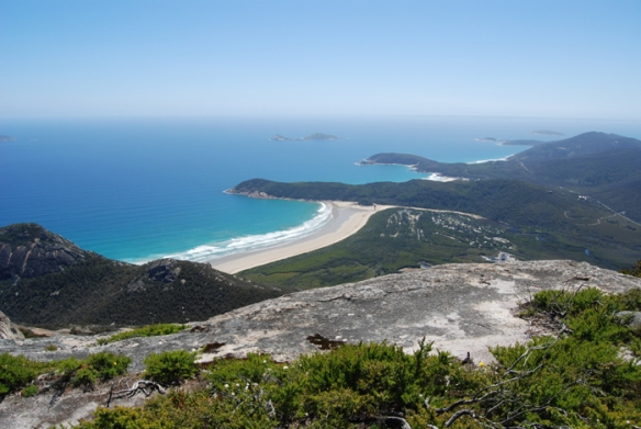 View of Wilsons Promontory from Mt Oberon