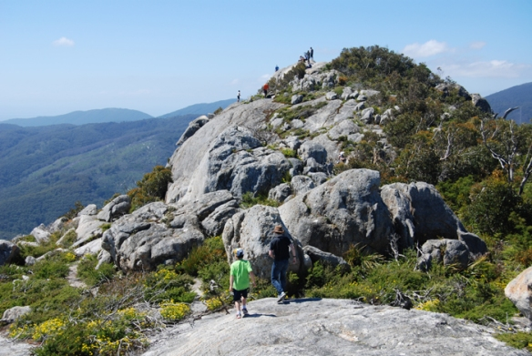 Exploring the summit of Mount Oberon