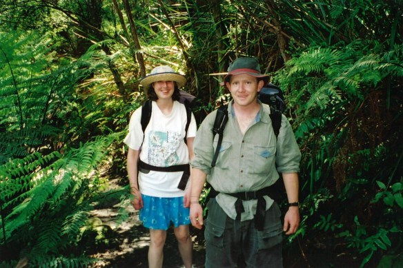Kim and Steve on an introductory backpacking trip