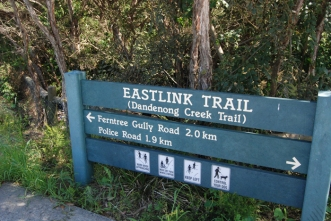 Where the EastLink Trail and Dandenong Creek Trail intersect
