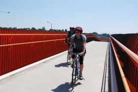 Colourful bridge on the EastLink Trail