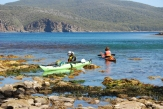 Canoeists at Bivouac Bay