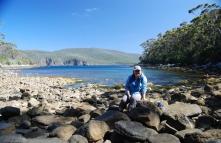 Karen at Bivouac Bay