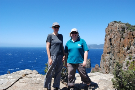 Mary and Karen at Cape Hauy