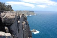 Sea cliffs at Tasman Peninsula