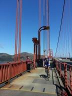Cycling lane on the Golden Gate Bridge