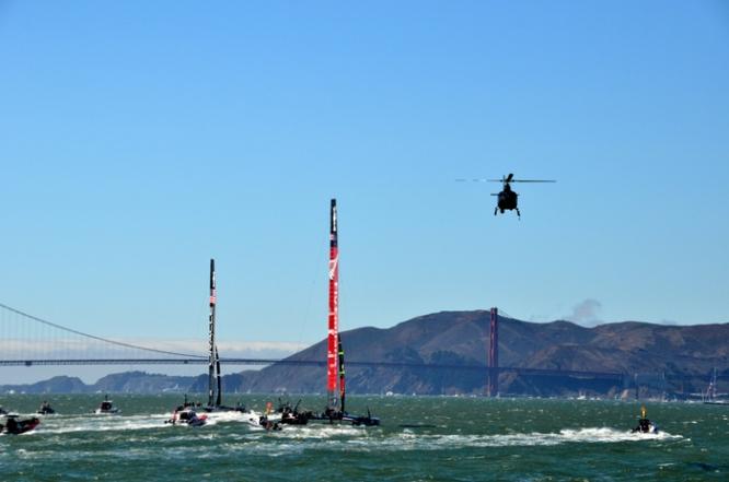 Super yachts on San Francisco Bay