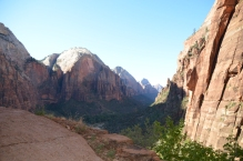 Heading up on the Angels Landing hike