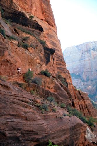 Steep switchbacks on Angels Landing hike