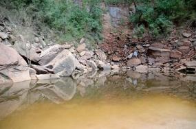 Upper Pool on the Emerald Pools hike