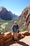 The view of Zion National Park from the Angels Landing hike
