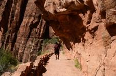 Steep downhill on Angels Landing hike