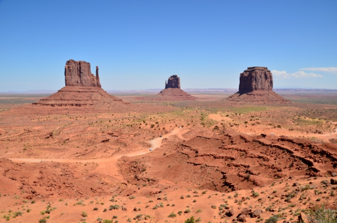Mitten buttes and Merrick Butte in Monument Valley