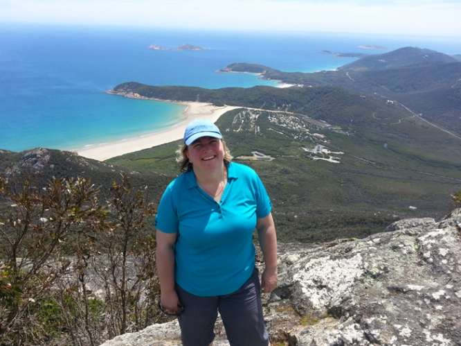 View of Norman Bay and Squeaky Beach from Mt Oberon